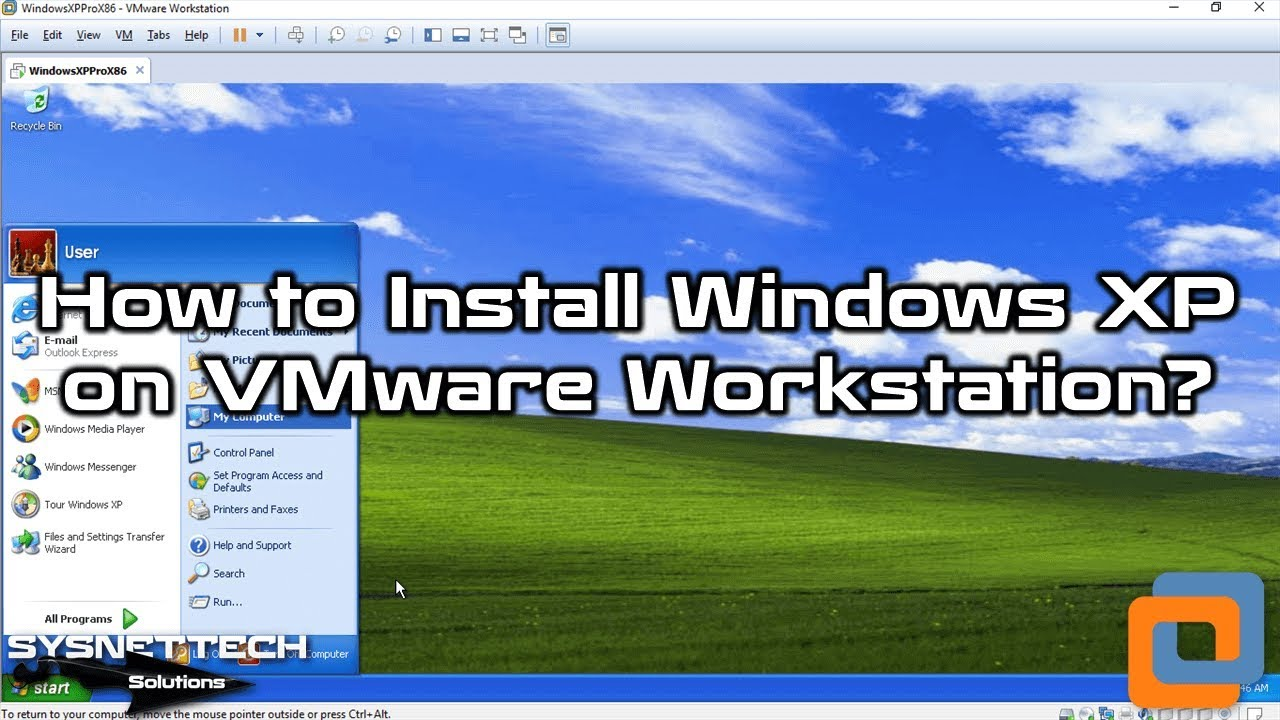 Windows xp starter edition with service pack 3 in vmware.