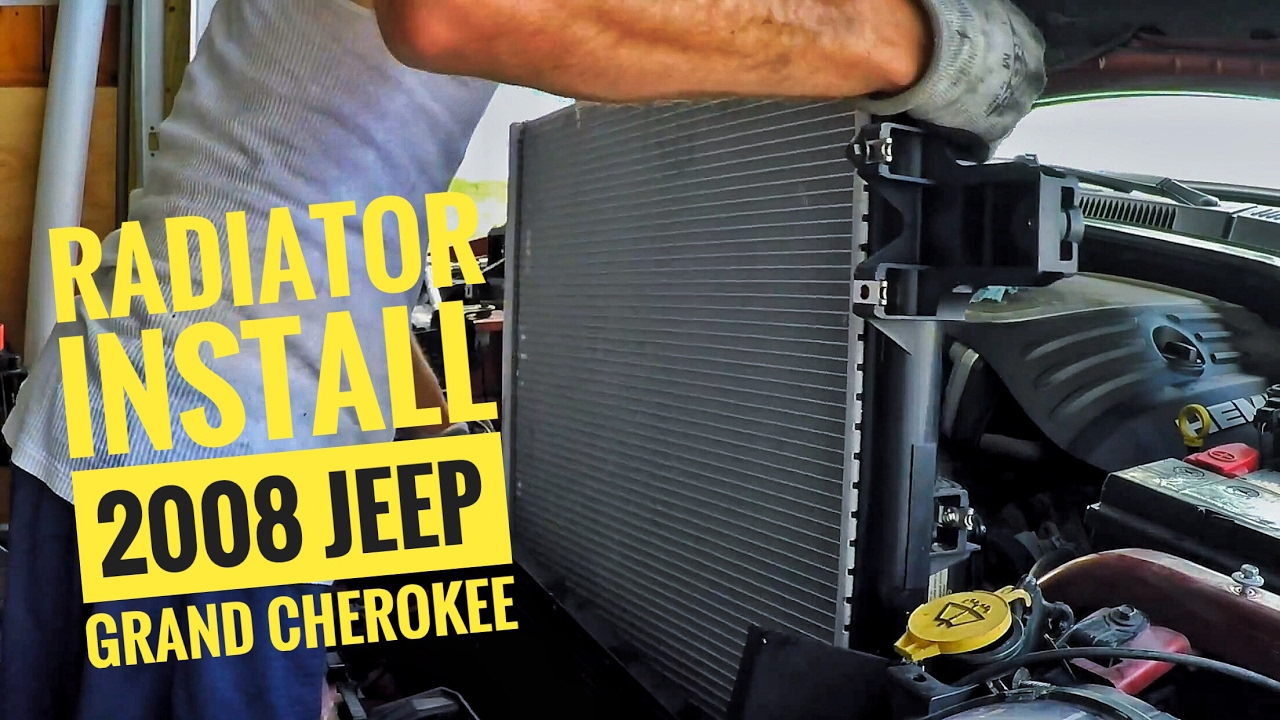 diy how to radiator install for a 2008 jeep grand. Black Bedroom Furniture Sets. Home Design Ideas