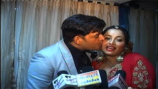Omg !! ravi kishan kisses rani chaterjee at her brothers reception | spicy bhojpuri