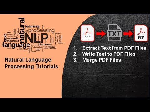 NLP Tutorial 3 - Extract Text From PDF Files In Python For NLP | PDF Writer And Reader In Python