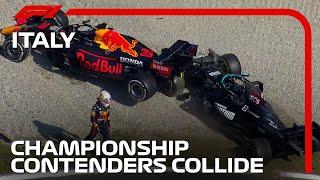 Verstappen & Hamilton Clash at Monza   2021 Italian Grand Prix