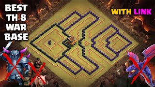BEST TH8 WAR BASE LAYOUT 2019 With Link Defense Against Th9 GoWiPe Dragons Th8 DragLoon