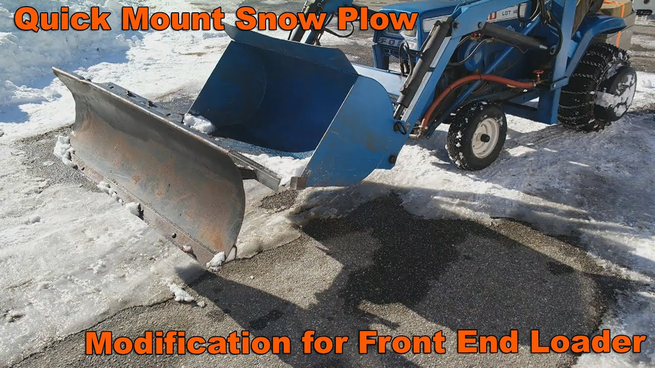 Front Mount Tractor Snow Plow : Quick mount snow plow modifcation for garden tractor