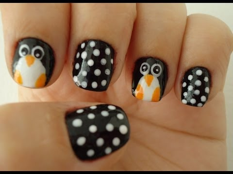 diy - tutorial unhas pinguim penguin