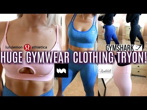 Activewear Gym Clothing Haul Try On Gymshark Bombshell