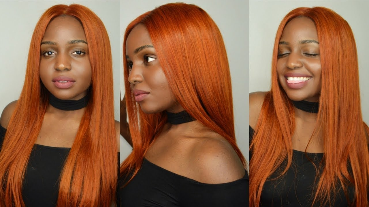 The Perfect Copper Red Ginger Orange For Dark Skin Ft Ali Julia