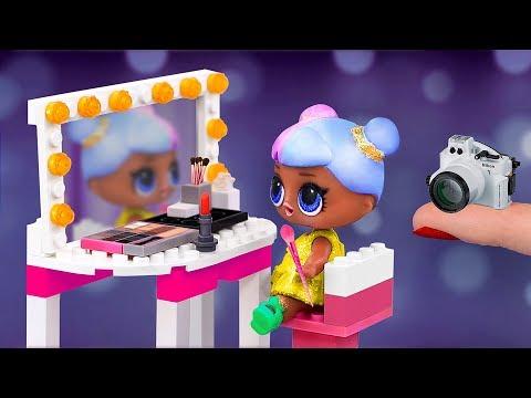Мебель для Барби и ЛОЛ из Лего – 10 идей / Фотостудия для кукол