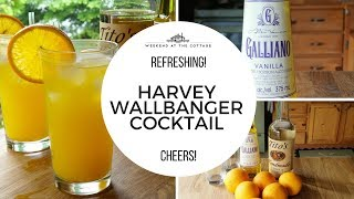 Classic HARVEY WALLBANGER COCKTAIL! 1 Minute Video