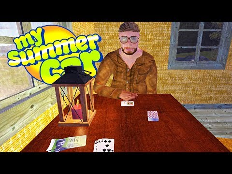 MY SUMMER GAMBLING DEN! PLAYING CARDS WITH SAATANA - My Summer Car Gameplay Highlights Ep 89