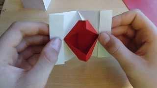 Origami mit Christian: Kussmund (kiss lips, speaking mouth)