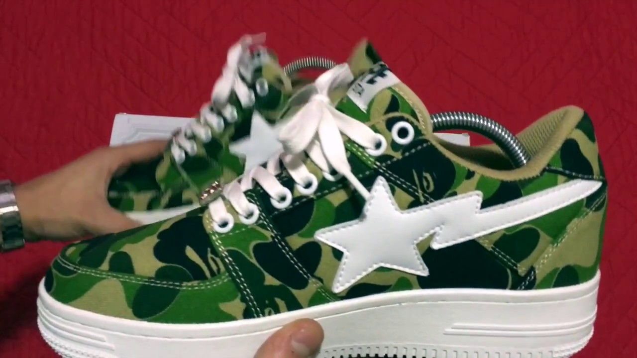 b373e7981a3f Bape ABC Green Camo Bapesta! IN DEPTH + ON FOOT - YouTube