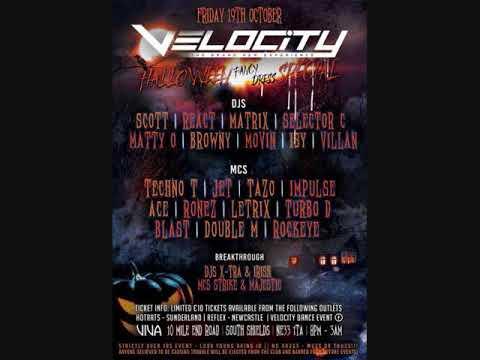 Velocity - Halloween Special 2018 - Dj Matty-O - Mc's Turbo-D & Ace
