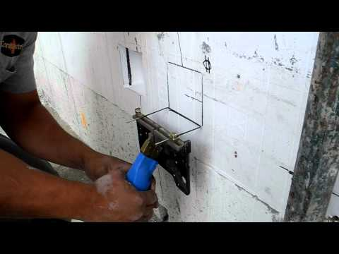 Fox Blocks Hot Knife Electrical Box into Insulated Concrete Forms