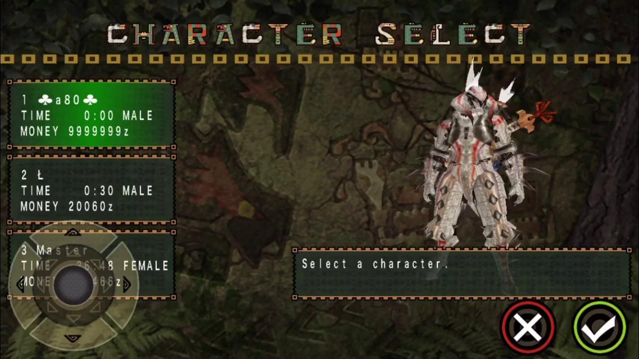 monster hunter freedom unite psp cheat codes