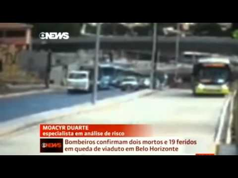 Bridge collapses in Brazil World Cup host city Belo Horizonte