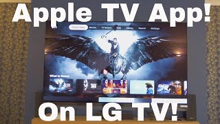 Apple TV on LG TV!  (No hardware required and not screen sharing!)