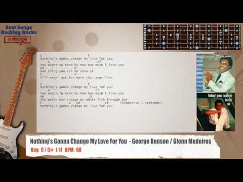 Nothing's Gonna Change My Love For You- George Benson / Glenn Medeiros Guitar Backing Track