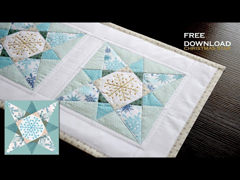 DOUBLE X - Christmas STAR - Download FREE Patchwork pattern paper piecing