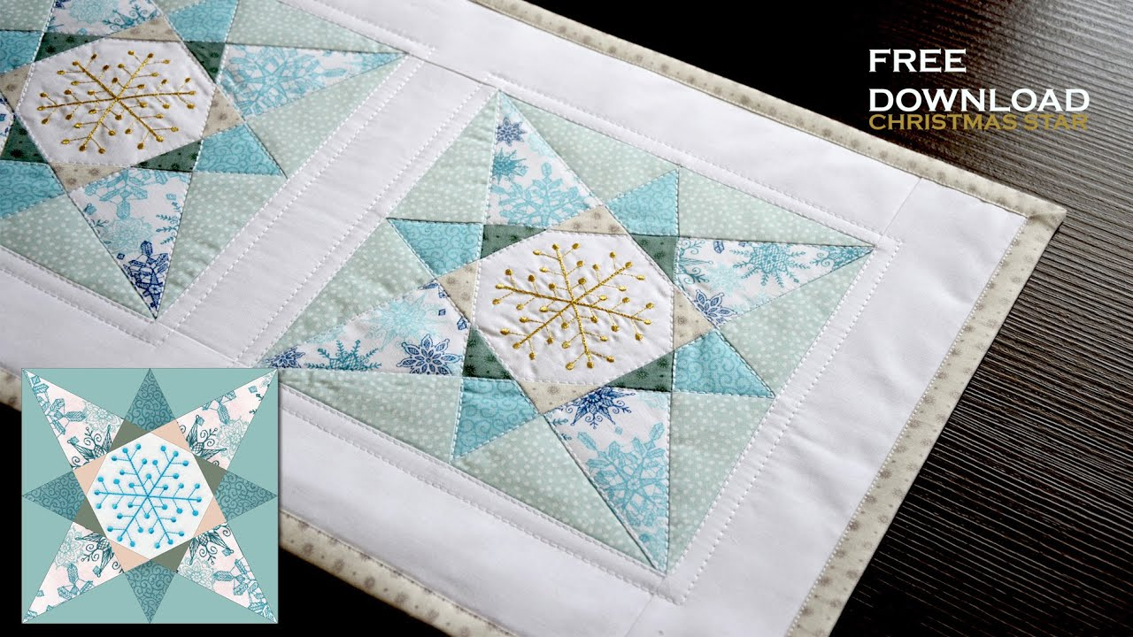 Free Paper Pieced Quilt Patterns Christmas.Double X Christmas Star Download Free Patchwork Pattern Paper Piecing