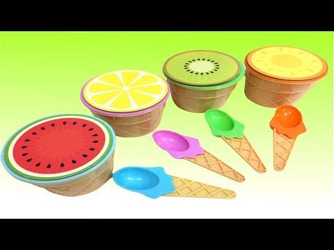 Learn Fruits Watermelon Lemon Orange Kiwi Kinetic Sand Surprise Toys