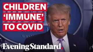 Donald Trump: children 'virtually immune' to coronavirus as he defends his previous claim