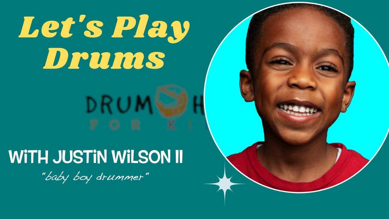 BabyBoyDrummer Teaches you your first beat on the drums!