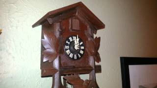 Rino's New Black Forest Cuckoo Clock At Midnight