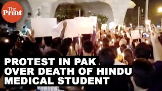 Protest in Pak over death of Hindu medical student
