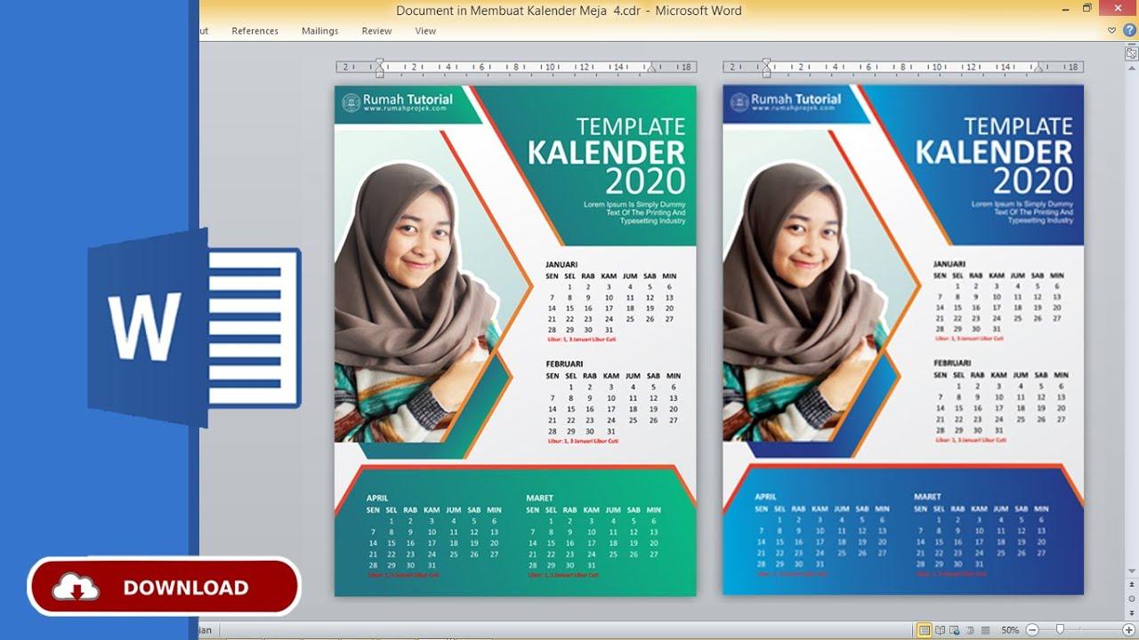 Desain Kalender Unik 2020 / Tips Desain Kalender 2021 ...