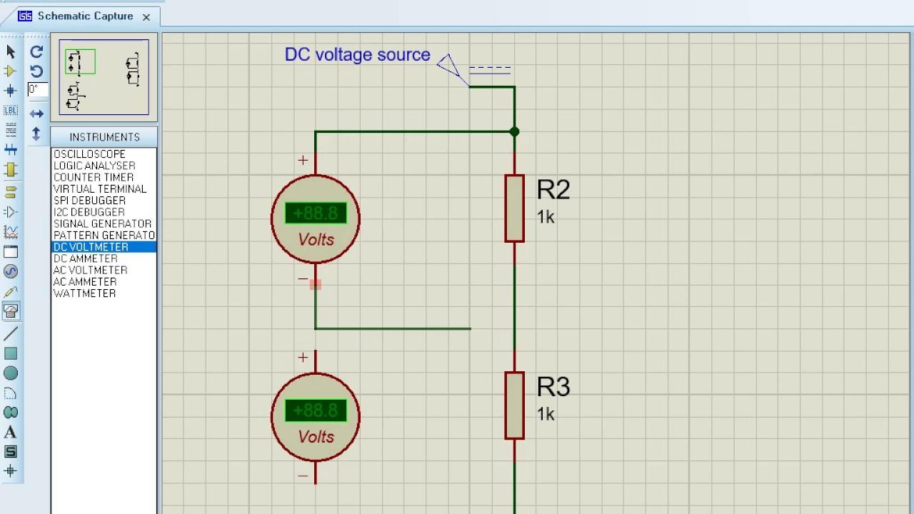Voltage Divide Circuit Simulation Using Proteus Youtube Potential Divider