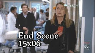 Grey's Anatomy 15x06 Ending Scene Meredith with Derek & All Her Loved Ones Who Passed Away / Dead