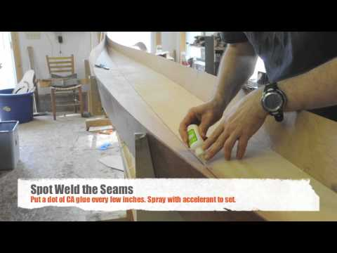 Assembing a Stitch and Glue Night Heron Kayak