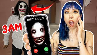Do NOT CALL Jeff the KILLER at 3AM.... (*HAUNTED?! HE FOUND US!*) Part 1