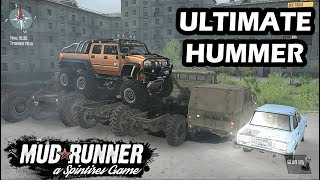 Spintires Mudrunner Ultimate Hummer H2 6x6 | Hummer H1 | New Offroad Map