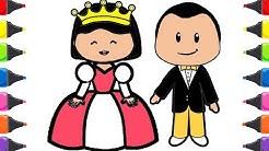 Pepe çizgi Film Kral Kraliçe Boyama Ile Renkleri öğreniyorum