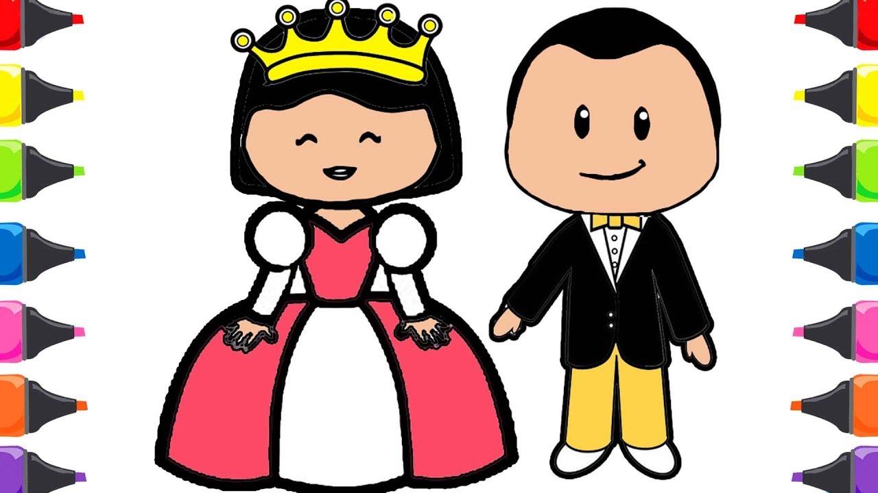 Pepe çizgi Film Kral Kraliçe Boyama Ile Renkleri öğreniyorum Youtube