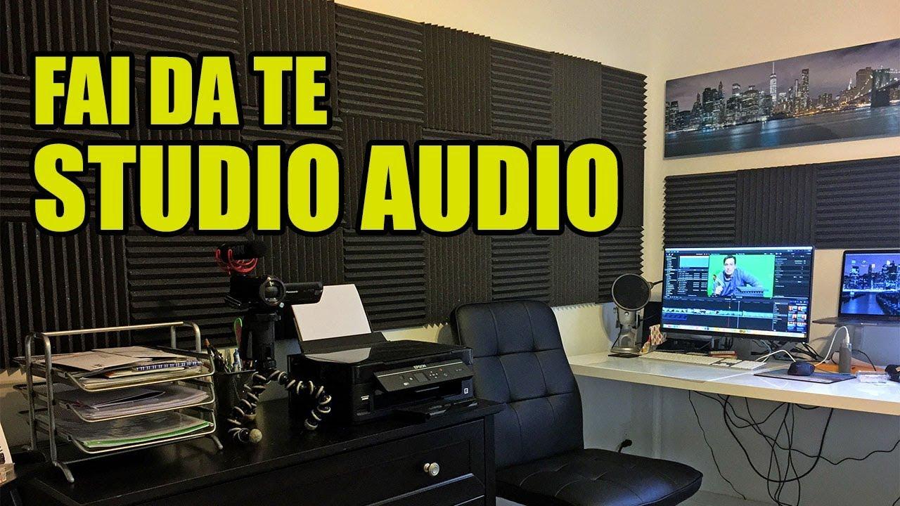 Fai da te studio registrazione audio video con pannelli - Mobili studio registrazione ...