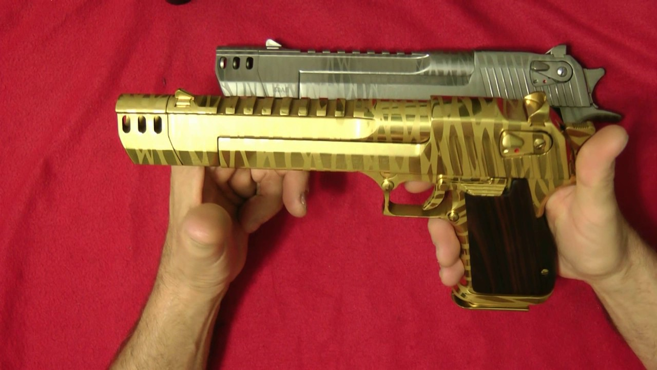 My Two Custom Desert Eagles Gold And Silver Tigers Youtube