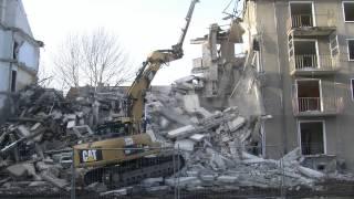 Teil 1. Abriss eines Wohnblockes mit Cat 329 D