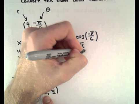 Polar Coordinates to Rectangular Coordinates ;  A Quick Example