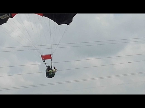 Parachute Crash In Sri Lanka