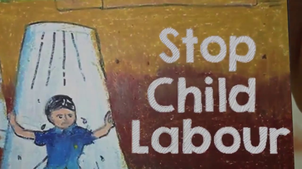 Drawing on Stop Child Labour   Chetan Art - YouTube