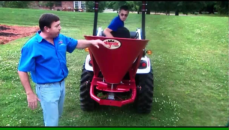 Agrex Fertilizer Spreader in Action by Everything Attachments