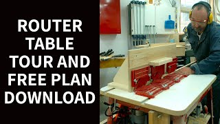 Router Table Tour And Free Plan Download