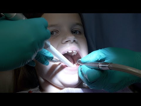 DENTAL HEALTH VLOG   HER FIRST CAVITY FILLING   DOES IT HURT?