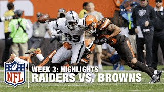 Raiders vs. Browns | Week 3 Highlights | NFL
