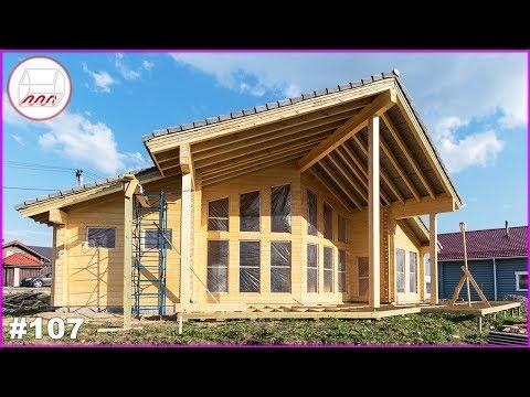 Дом из клееного бруса 120 м2 на УШП, пятиугольный проект Nuuna