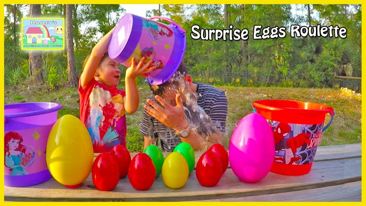 Funny Surprise Eggs Roulette Challenge Game For Toy