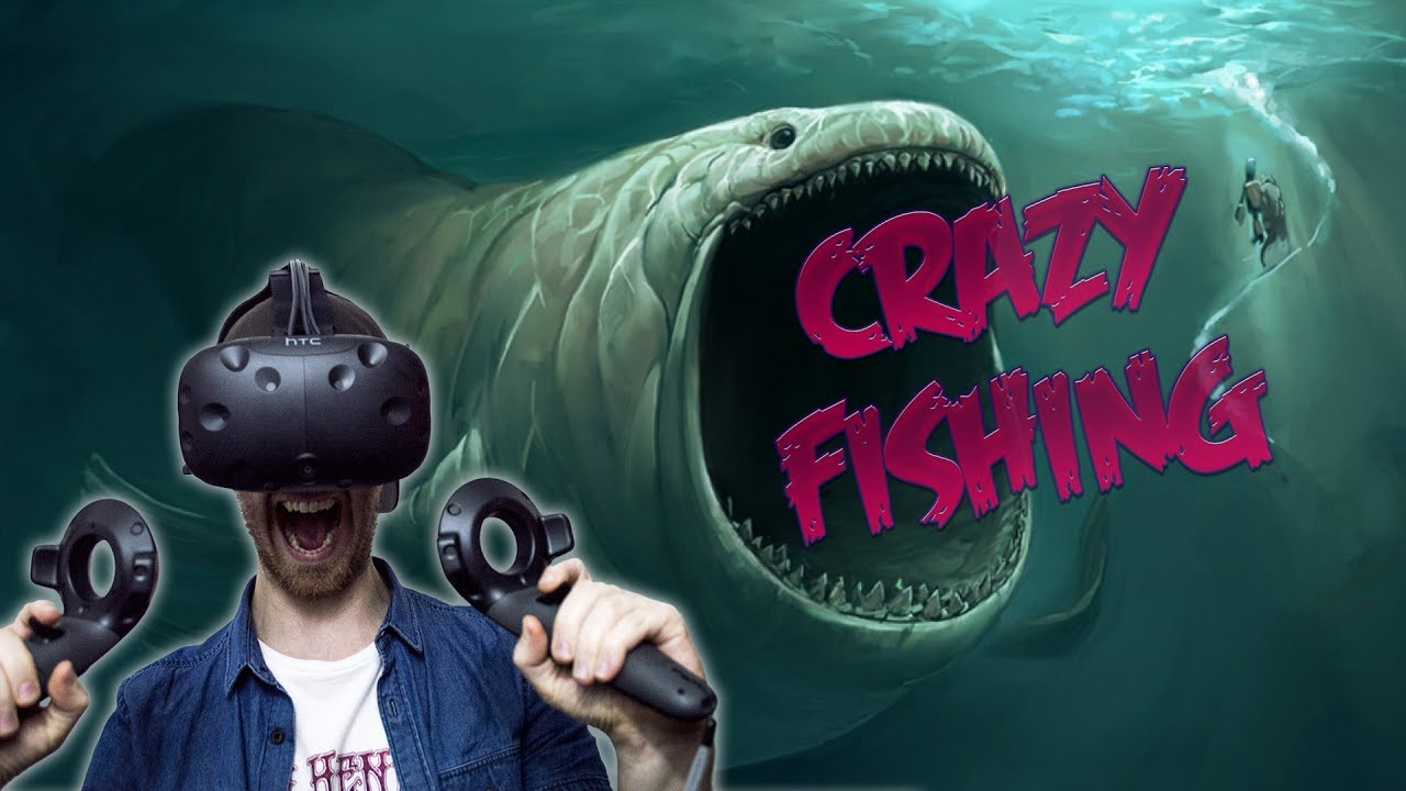 Vr fishing game crazy fishing htc vive gameplay youtube for Crazy fishing videos
