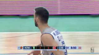 Marko Ljubičić does an old trick and gets easy layup! (Krka - Cibona, 10.12.2018)